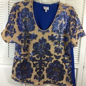 Nieman Marcus  / Tracy Reese sequined top.